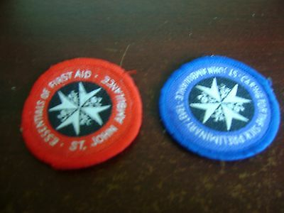 st john ambulance first aid and care badge