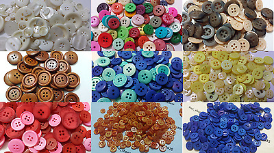 Mixed Buttons Assorted Shape Sizes Heart Square Art Craft Sewing Card Scrapbook
