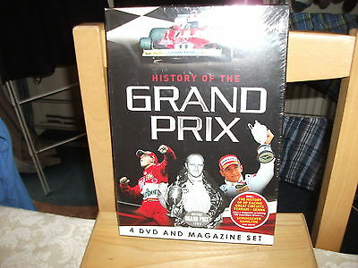 History of The Grand Prix 4 DVD And Magazine Set