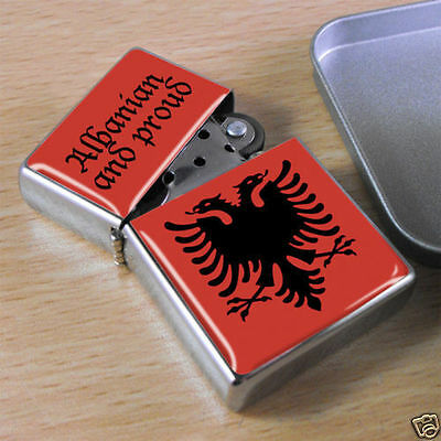 Proud To Be Albanian Flip Top Lighter