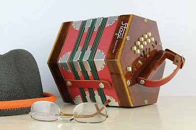 CONCERTINA FISARMONICA ORGANETTO STAGI made in Italy 20 BOTTONI