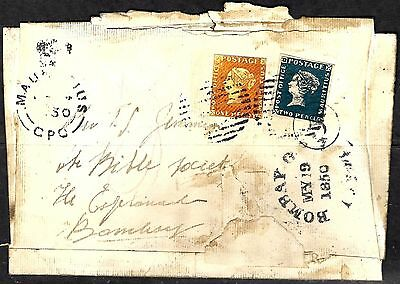 401 - Mauritius - 1850 - Cover To Bombay - Nice Forgery - Fake - Faux