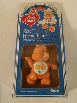 CARE BEARS 1982 Kenner Poseable Figure FRIEND BEAR NIB 60360 80s Collectible HTF