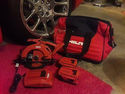 18v Hilti Circular Saw with 2 Batteries and Charger