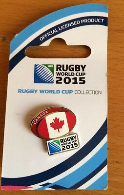 Canada Rugby World Cup 2015 Pin Badge Unused