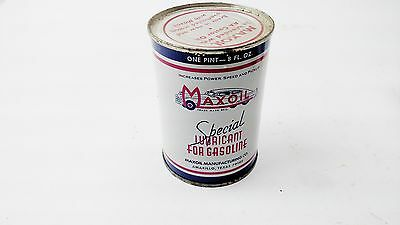 Vintage Maxoil Oil Can FULL