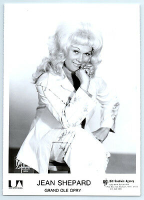 JEAN SHEPARD Vintage BRUNO OF HOLLYWOOD Photo COUNTRY MUSIC Grand Ole Opry