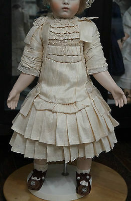 Silk dress  for the antique French doll .