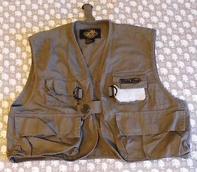 Med 10/12 Youth White River Fly Shop Fishing Vest Olive Drab