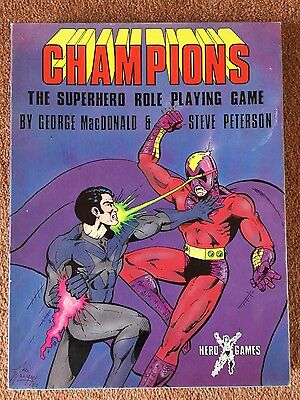 CHAMPIONS THE SUPERHERO ROLE PLAYING GAME 2nd edition 1982 Hero Games