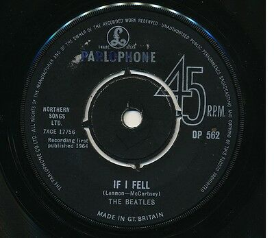 "BEATLES ""If I Fell"" b/w ""Tell Me Why"" (1964) export 45rpm (Parlophone DP 562)"