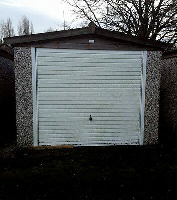 Concrete Sectional Garage with Pitched Roof (C)