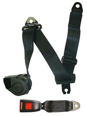 Seat Belt - Auto Lap & Diagonal - Black SECURON 507S/SL22