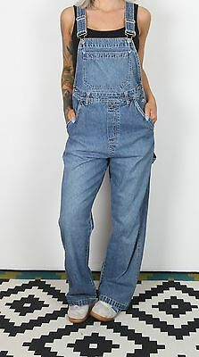 Maternity Dungarees UK Small 8-10 approx. Mid Blue Wash Vintage (7AJ)