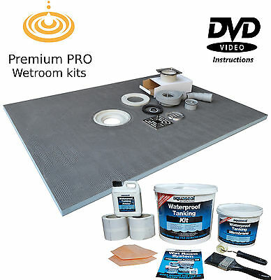 Wet Room Wetroom Shower Tray Kit Various Sizes in this listing (Aqua PRO)