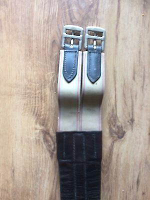 Leather Girth, Buckled Each End. Horse Leathers. Equine. Used