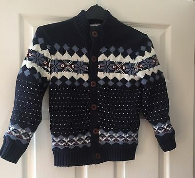 Boys Age 7 - 8 Knitted Lined Cardigan