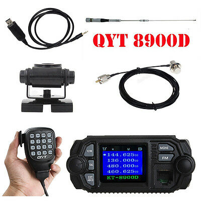 KT8900D Dual Band Mobile Radio Transceiver+Antenna+Mount+Mic Cable+Program Cable
