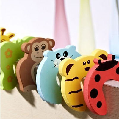 6 x Baby Child Kids Safety Animal Door Stopper Jammer Finger Protector Guard