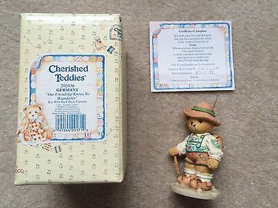 Cherished Teddy Germany, Our Friendship Knows No Boundaries - Ex. Condition!