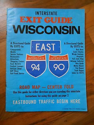Old Vintage 1980 Interstate Exit Guide by Exit Wisconsin Souvenir Travel Booklet