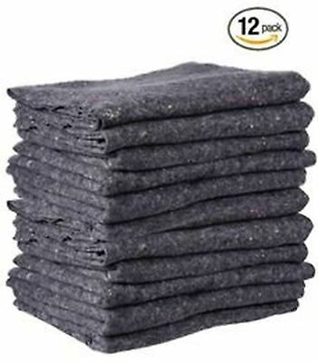 "Cheap Cheap Moving Boxes - Textile Moving Blankets (12-Pack) - Grey - 72"" x 54"""