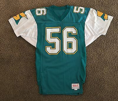 1991 Sacramento Surge Team Issued Home Jersey #56 Moore WLAF World League