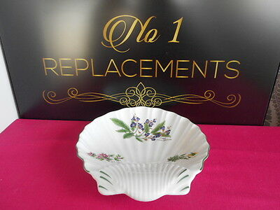 Royal Worcester Herbs Sage Thyme Shell Shape Dish Bowl 8.5""