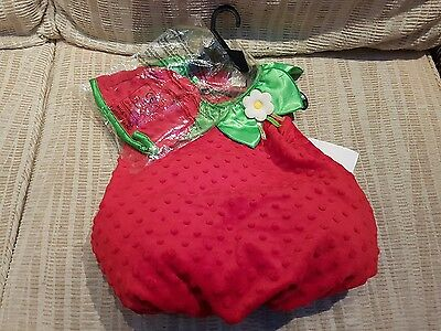Fancy dress strawberry outfit for child 12 - 18 mths brand new with tag