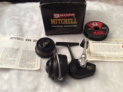 Garcia Mitchell 324 Boxed Paperwork Spare Spool Used Fishing Reel