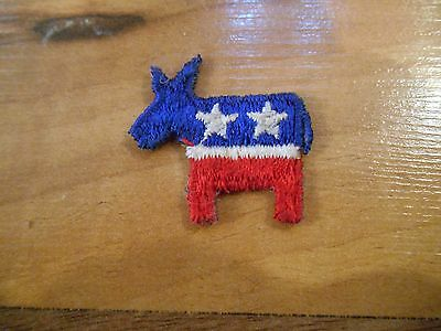 Maybe Old or Vintage Small Political Democrat Donkey Souvenir Patch Applique