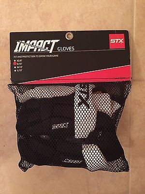 NEW STX Impact lacrosse gloves Half Black / Half White