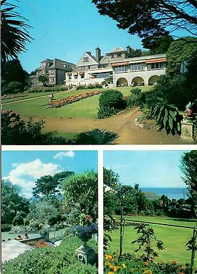 Hotel St Michael's and gardens - Sea Front - falmouth - Cornwall - Postcard