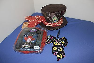Mad Hatter Hat, Bow Tie, and Wig Costume