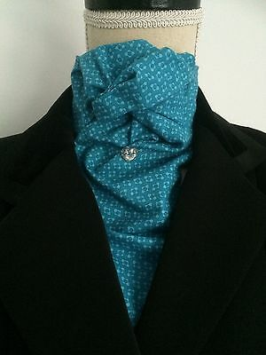 Pre Tied / Ready tied Stock, Riding, Blue, Equestrian