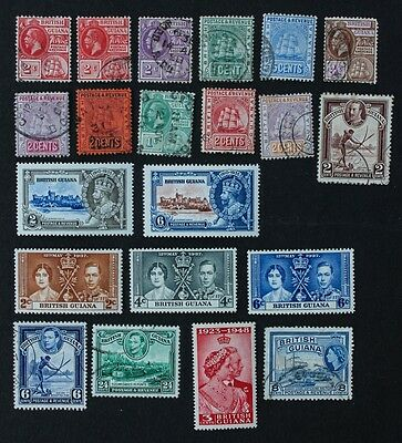 BRITISH GUIANA - Selection of 21 Mounted Mint & Used inc SG301-302 SG305-307.