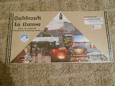 Oshkosh is Game City Property Trading Board Game Monopoly Wisconsin Advertising