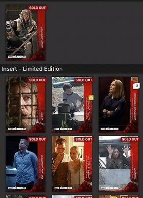 Topps Walking Dead Close Up Wave 1 And 2 Full Set With Ezekiel Award