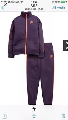 Nike Girls Tracksuit New With Tags Size Medium 10-12 Years Colour Purple & Pink