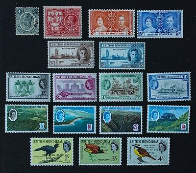 BRITISH HONDURAS - Selection of 17 MM & Used inc SG162-163, 202, 204, 205.