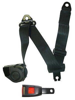 Seat Belt - Auto Lap & Diagonal - Black SECURON 507S/10