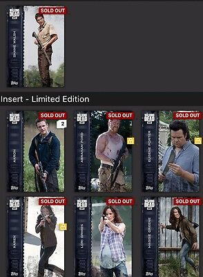 Topps Walking Dead Armed Wave 1 And 2 Full Set 1-9 With Shane Award