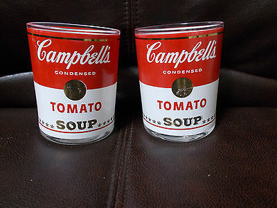 Campbell's Tomato Soup Glasses, set of 2