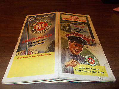 1946 Sinclair Texas/Oklahoma/New Mexico Vintage Road Map