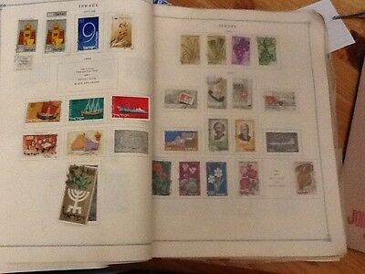 250 Israel Stamps approx from 1948 to 1960 Hinged on Album Pages