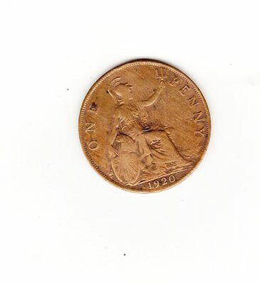 UK Great Britian Coin one penny 1920 sold as seen will combine shipping