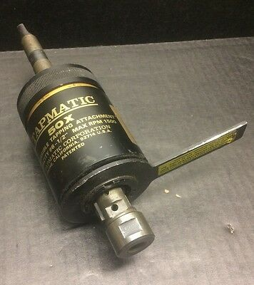 "Tapmatic 50X ~ Reversible Tapping Head ~ Capacity #6 - 1/2"" Max RPM 1500"