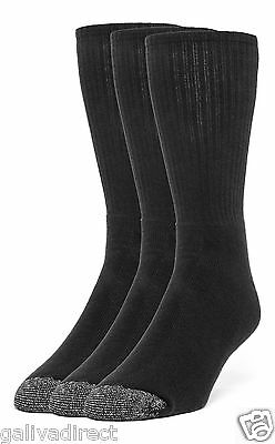 Galiva Men's Cotton ExtraSoft Crew Cushion Socks - 3 Pairs