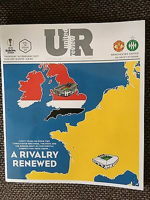 Manchester United v Saint-Etienne Official Matchday Programme 16/2/17. Brand New