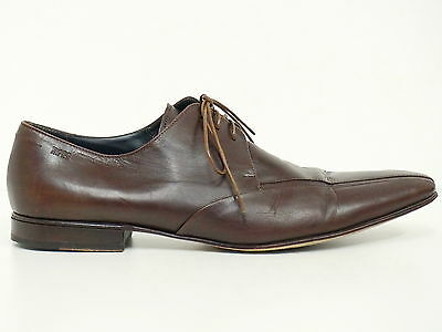 ▲ HUGO BOSS ▲ Herrenschuhe Gr. 46 (11.5) Business Man Shoes Echtleder Braun